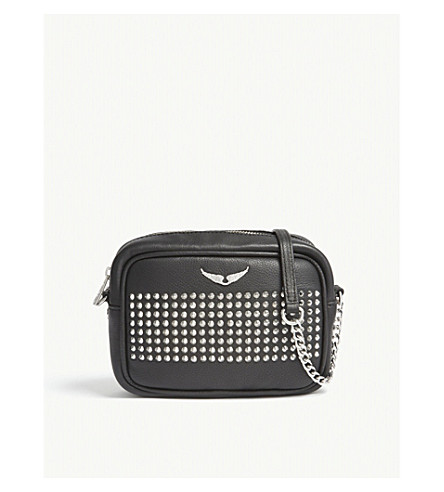 ZADIG & VOLTAIRE Extra small spiked leather cross-body bag (Black