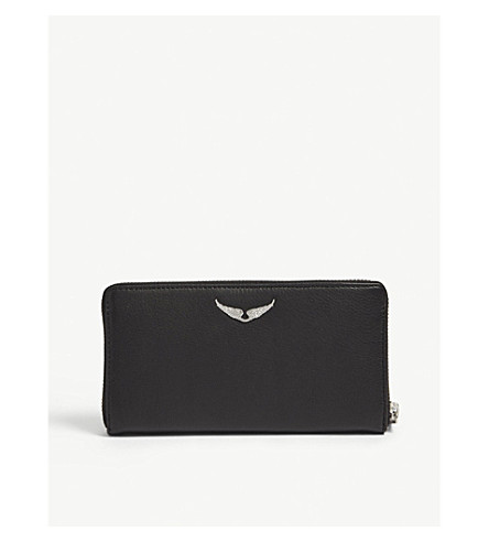 ZADIG & VOLTAIRE Compagnon spiked leather wallet (Black