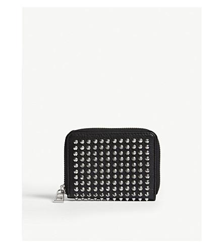 ZADIG & VOLTAIRE Mini spike leather purse (Black