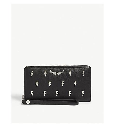 ZADIG & VOLTAIRE Compagnon flash leather wallet (Black