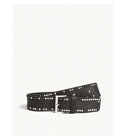 ZADIG & VOLTAIRE Starlight leather belt (Black