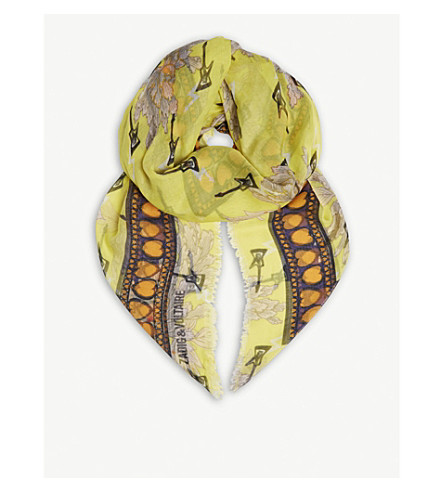 ZADIG & VOLTAIRE Kerry Nenuphar scarf (Lime