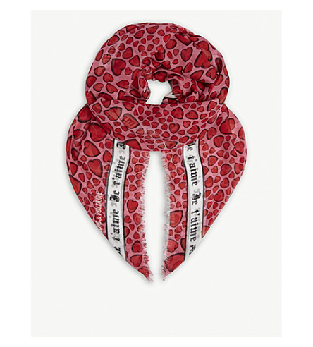 ZADIG & VOLTAIRE Kerry Heart modal scarf (Japon