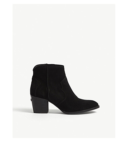 ZADIG & VOLTAIRE Molly suede ankle boots (Black