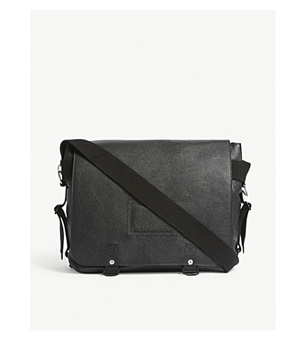 ZADIG & VOLTAIRE Ready-made leather messenger bag (Noir