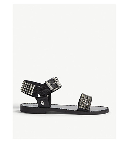ZADIG & VOLTAIRE Roman leather sandals (Black