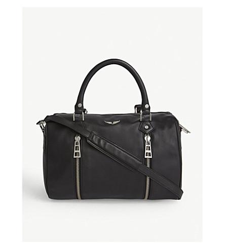 ZADIG & VOLTAIRE Sunny medium leather shoulder bag (Black