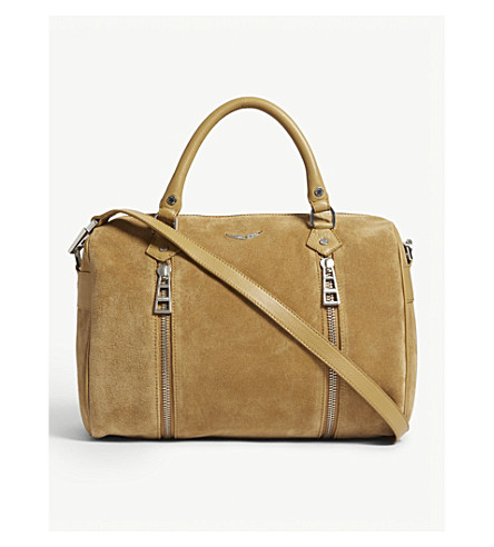 ZADIG & VOLTAIRE Sunny medium suede tote (Brown