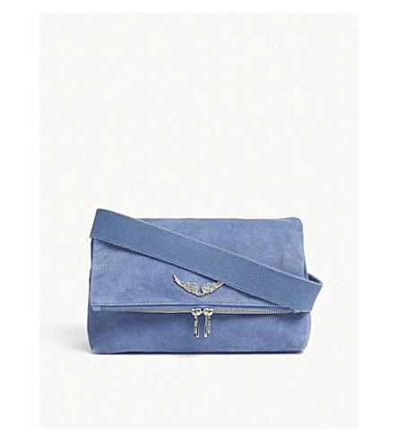 ZADIG & VOLTAIRE Rocky suede shoulder bag (Blue
