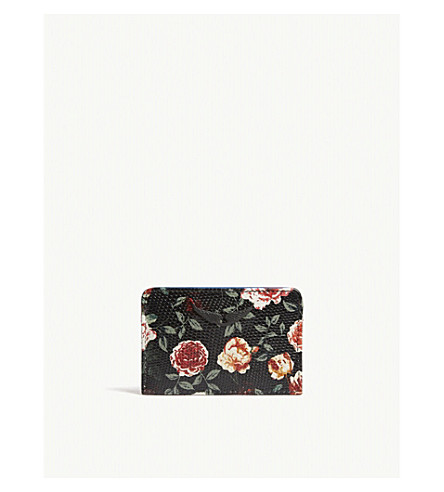 ZADIG & VOLTAIRE oral-print textured leather card holder (Multicolor