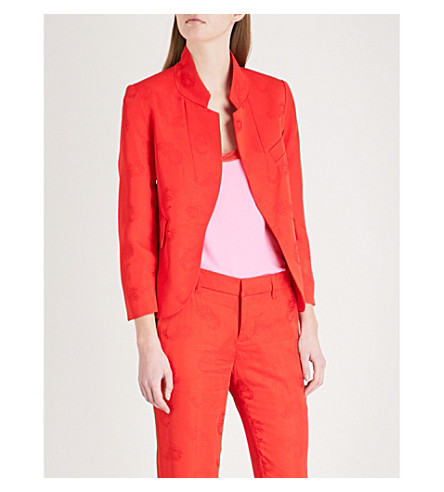 ZADIG & VOLTAIRE Paisley-pattern jacquard blazer (Red