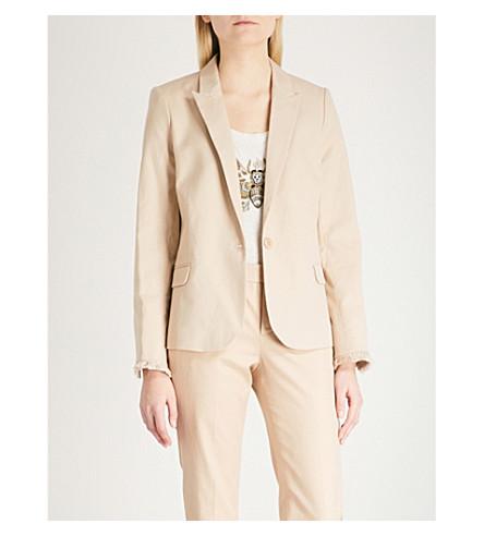 ZADIG & VOLTAIRE Padded shoulders cotton-blend blazer (Cream