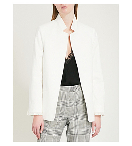 ZADIG & VOLTAIRE Volly peak-lapel cotton-blend blazer (White