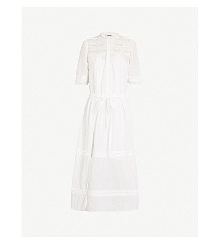 ZADIG & VOLTAIRE Rosary lace-detail cotton-blend dress (White