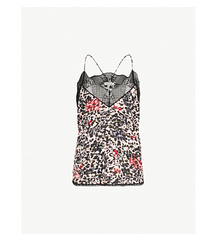 ZADIG&VOLTAIRE Christy Leo Othake leopard-print crepe camisole (Pink
