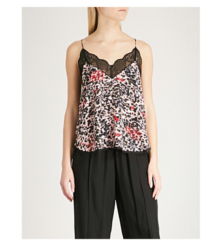ZADIG & VOLTAIRE Christy Leo Othake leopard-print crepe camisole (Pink