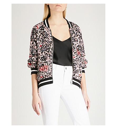ZADIG & VOLTAIRE Billy Leo Othake reversible crepe bomber jacket (Pink