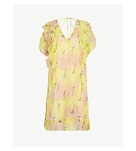 ZADIG & VOLTAIRE Rivel floral-print chiffon mini dress (Lime