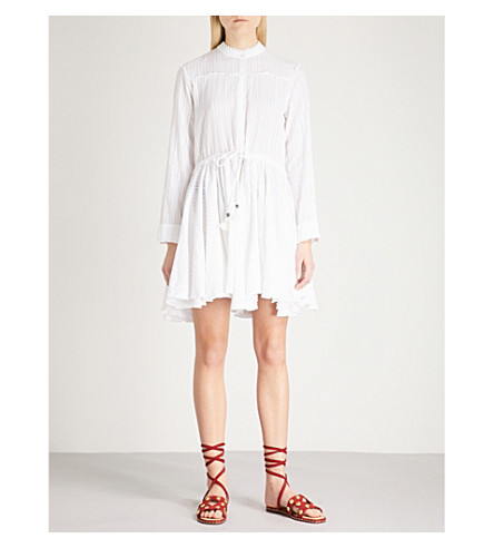 ZADIG & VOLTAIRE Ranil striped cotton-dobby dress (White