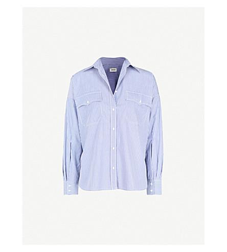 ZADIG & VOLTAIRE Tamara striped cotton-poplin shirt (Blue