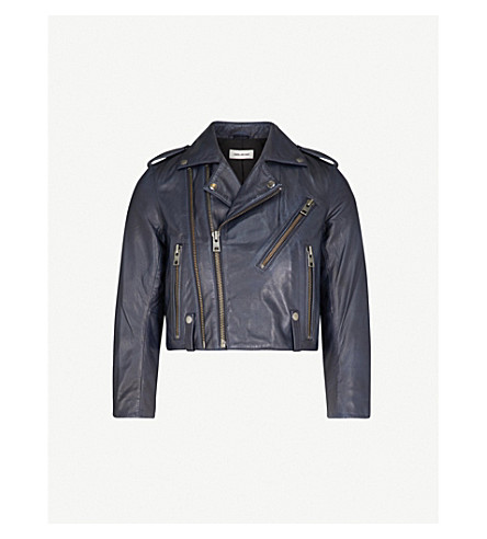 ZADIG & VOLTAIRE Liyo leather jacket (Blue