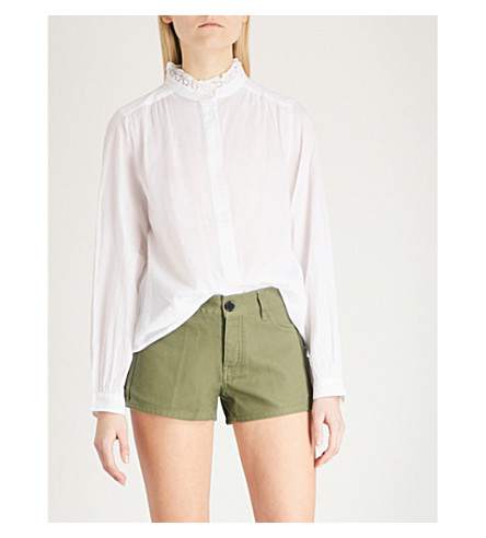 ZADIG & VOLTAIRE Tinoy cotton-voile blouse (White