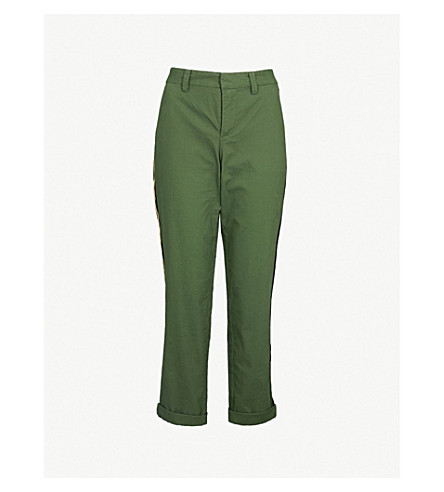 ZADIG&VOLTAIRE Pomelo cropped cotton-blend tapered trousers (Green