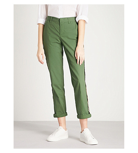 ZADIG & VOLTAIRE Pomelo cropped cotton-blend tapered trousers (Green