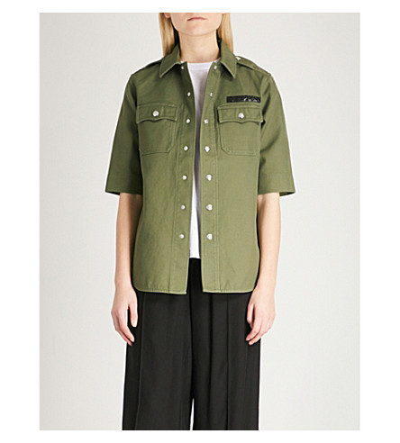 ZADIG & VOLTAIRE Tex Brodé embroidered cotton-twill shirt (Green