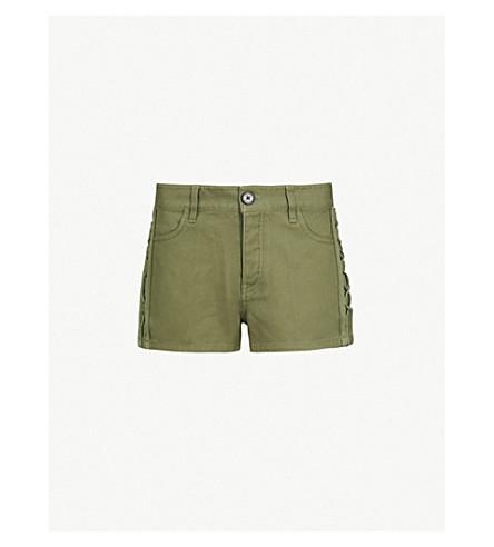ZADIG & VOLTAIRE Suzan mid-rise denim shorts (Green