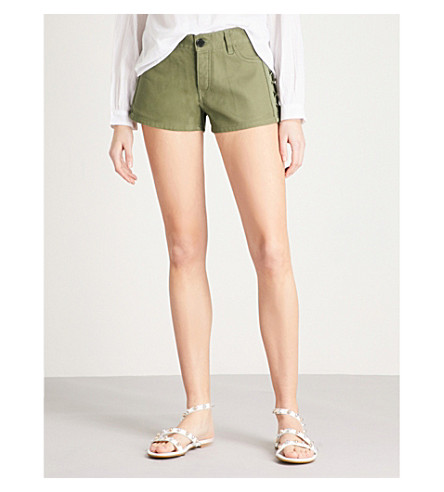 ZADIG & VOLTAIRE Suzan mid-rise denim shorts (Green