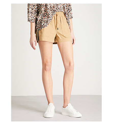 ZADIG & VOLTAIRE Paro metallic-trim cotton shorts (Cream