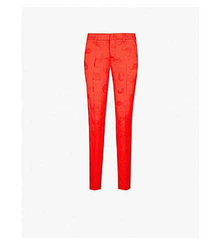 ZADIG&VOLTAIRE Prune paisley jacquard trousers (Red