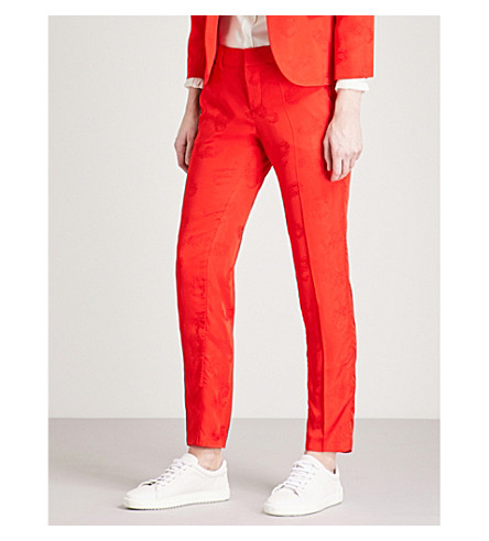 ZADIG & VOLTAIRE Prune paisley jacquard trousers (Red