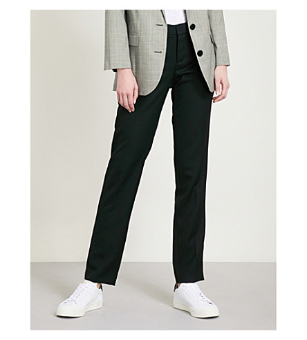 ZADIG & VOLTAIRE Prune tapered wool trousers (Black