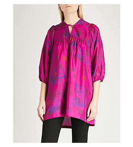 ZADIG & VOLTAIRE Tepeat jungle-print silk-crepe de chine tunic (Pink