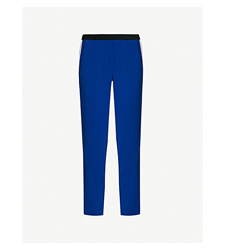 ZADIG & VOLTAIRE Paula side-stripe woven trousers (Blue