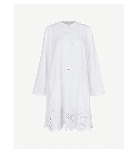 ZADIG & VOLTAIRE Rone broderie-anglaise cotton-poplin dress (White