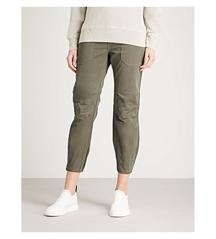 ZADIG & VOLTAIRE Palma Grunge cropped cotton trousers (Green
