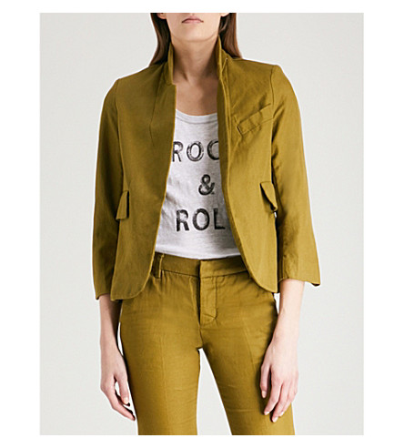 ZADIG & VOLTAIRE Verys cotton and linen-blend jacket (Green