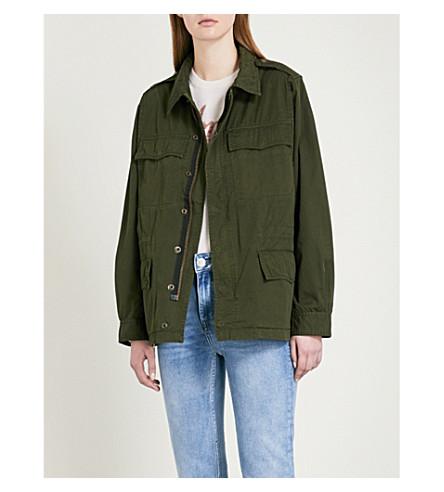 ZADIG & VOLTAIRE Kayak cotton field jacket (Green