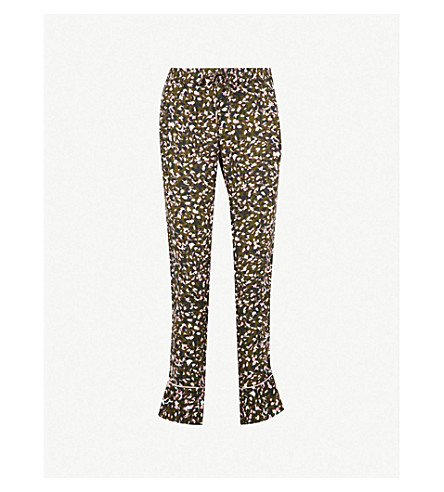 ZADIG & VOLTAIRE Parone leopard-print high-rise straight crepe trousers (Green