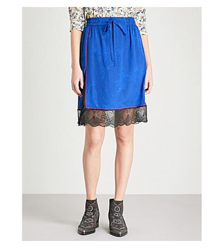 ZADIG & VOLTAIRE Jillian silk-crepe de chine skirt (Blue