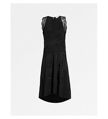 ZADIG&VOLTAIRE Roberto silk-jacquard midi dress (Black