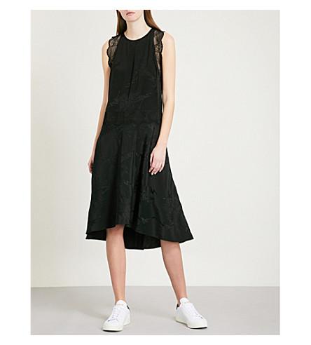 ZADIG & VOLTAIRE Roberto silk-jacquard midi dress (Black