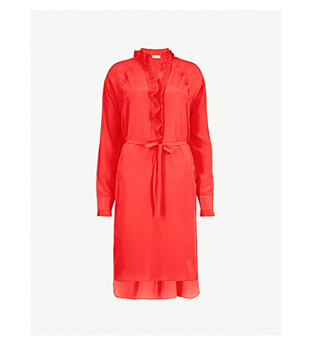 ZADIG&VOLTAIRE Rizzo silk-crepe shirt dress (Red