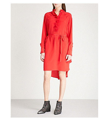 ZADIG & VOLTAIRE Rizzo silk-crepe shirt dress (Red