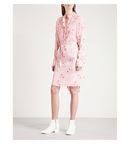 ZADIG & VOLTAIRE Rizzo floral-print satin dress (Pink