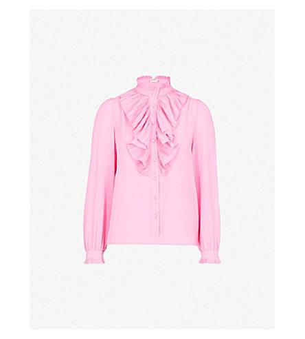 ZADIG&VOLTAIRE Tacco ruffled silk shirt (Pink