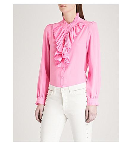 ZADIG & VOLTAIRE Tacco ruffled silk shirt (Pink